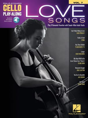 Cello Play-Along Volume 7 - Love Songs Partition laflutedepan