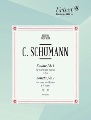 Camillo Schumann - Sonate n°1 Opus 118 en Fa Majeur - Partition - di-arezzo.fr
