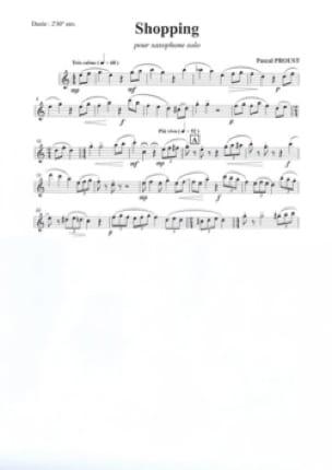 Shopping Pascal Proust Partition Saxophone - laflutedepan