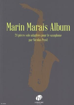 Marin Marais Album Marin Marais Partition Saxophone - laflutedepan