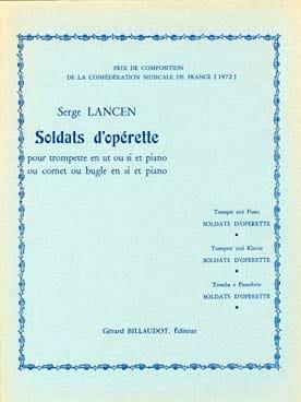 Soldats D' Opérette - Serge Lancen - Partition - laflutedepan.com