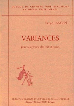 Serge Lancen - variances - Sheet Music - di-arezzo.co.uk