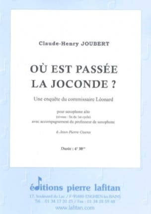 Où Est Passée La Joconde ? - Claude-Henry Joubert - laflutedepan.com