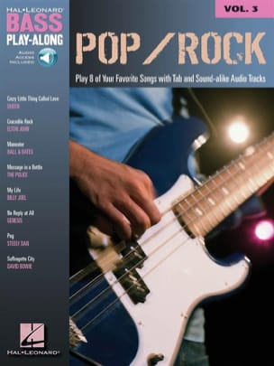 - Bass Play-Along Volume 3 - Pop/Rock - Partition - di-arezzo.fr