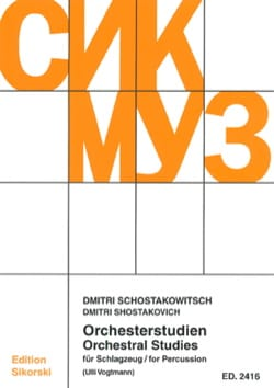 CHOSTAKOVITCH - Orchesterstudien für Schlagzeug - Sheet Music - di-arezzo.co.uk
