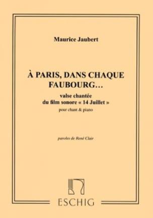 Maurice Jaubert - パリでは、各フォーブルでは... - 楽譜 - di-arezzo.jp