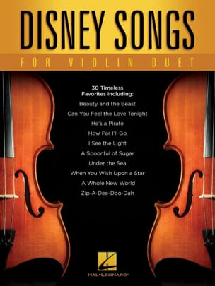 DISNEY - Disney Songs for Violin Duet - Partition - di-arezzo.fr