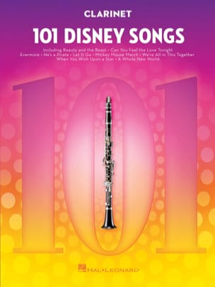 101 Disney Songs DISNEY Partition Clarinette - laflutedepan