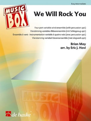 We Will Rock You - Music Box - Queen - Partition - laflutedepan.com