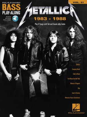 Bass Play-Along Volume 21 - Metallica: 1983-1988 laflutedepan