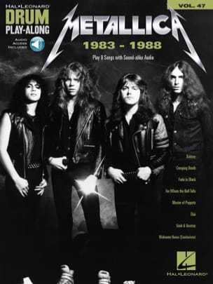 Metallica - Drum Play-Along Volume 47 - Metallica: 1983-1988 - Sheet Music - di-arezzo.com