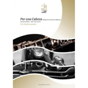 Carlos Gardel - Por Una Cabeza-クラリネット四重奏団 - 楽譜 - di-arezzo.jp