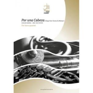 Por Una Cabeza - Quatuor de Cors Carlos Gardel Partition laflutedepan