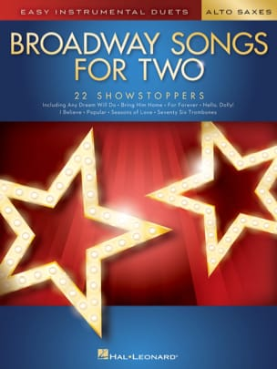 Broadway Songs for Two Alto Saxophones - laflutedepan.com