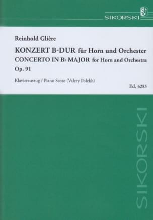 Reinhold Glière - Concerto In Bb Major Opus 91 - Sheet Music - di-arezzo.co.uk