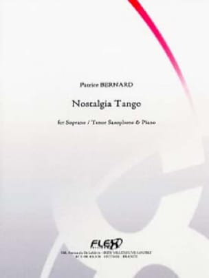 Nostalgia tango - Patrice Bernard - Partition - laflutedepan.com