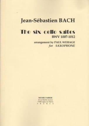 Six suites pour Violoncelle seul - Arrangées pour Saxophone - laflutedepan.com
