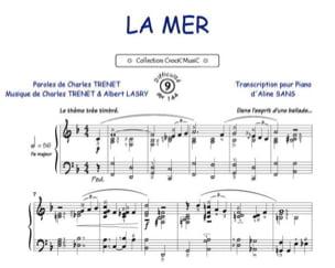 La Mer Charles Trenet Partition Chanson française - laflutedepan