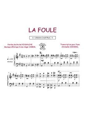 Edith Piaf - La Foule - Partition - di-arezzo.fr