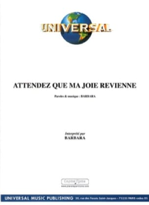 Barbara - Wait for my joy to come back - Sheet Music - di-arezzo.com