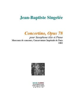 Jean-Baptiste Singelée - Concertino Opus 78 - Partition - di-arezzo.fr