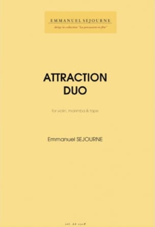 Emmanuel Séjourné - Attraction Duo - Partition - di-arezzo.fr