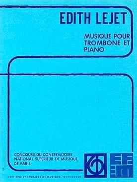 Musique Pour Trombone Et Piano Edith Lejet Partition laflutedepan