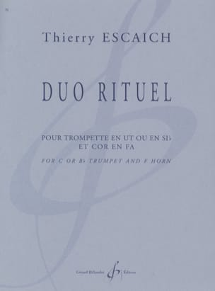 Thierry Escaich - Duo Rituel - Partition - di-arezzo.fr