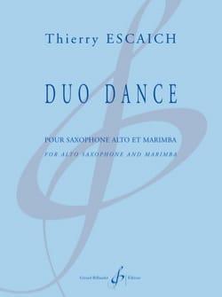 Duo Dance Thierry Escaich Partition Saxophone - laflutedepan