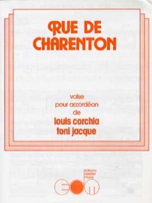 Rue de Charenton Louis Corchia & Toni Jacque Partition laflutedepan