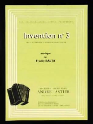 Freddy Balta - Invention n°3 - Partition - di-arezzo.fr
