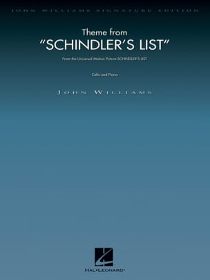 John Williams - Schindler's List - Cello - Sheet Music - di-arezzo.com
