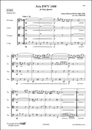 Johann Sebastian Bach - Aria - BWV 1068 - Partition - di-arezzo.fr