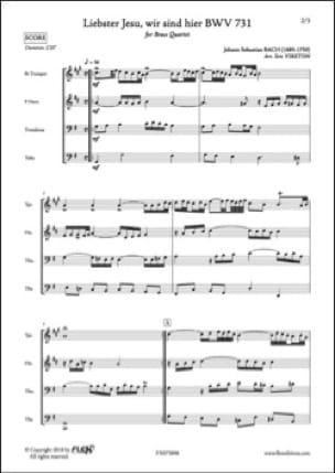 BACH - Liebster Jesu, wir sind hier BWV 731 - Partition - di-arezzo.fr