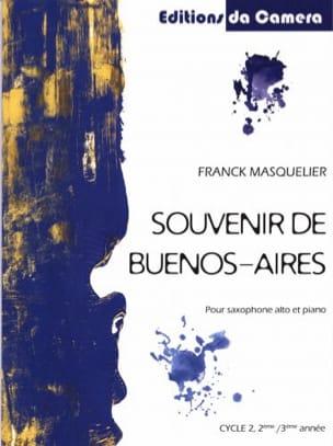 Souvenir de Buenos-Aires Franck Masquelier Partition laflutedepan