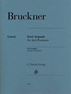 Deux Aequale pour trois Trombones BRUCKNER Partition laflutedepan