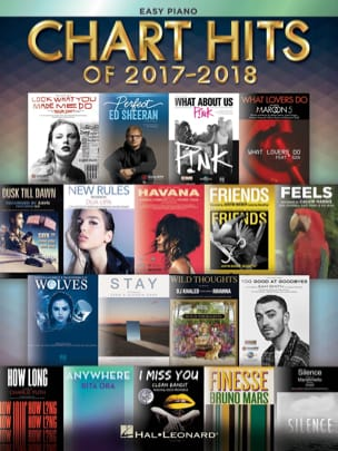 Chart Hits of 2017-2018 Piano Facile - Version Européenne - laflutedepan.com