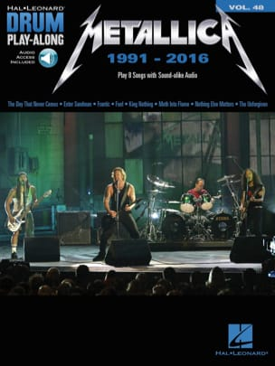 Metallica - Drum Play-Along Volume 48 - Metallica: 1991-2016 - Partition - di-arezzo.fr