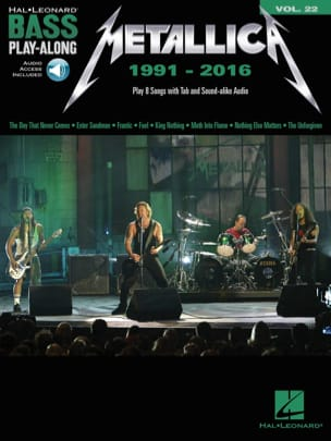 Metallica - Bass Play-Along Volume 22 - Metallica: 1991-2016 - Sheet Music - di-arezzo.co.uk