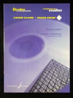 Philippe Leroux - 20 Progressive Studies For Snare Drum - Sheet Music - di-arezzo.co.uk