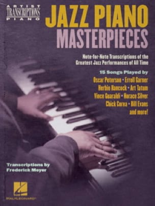 Jazz Piano Masterpieces - Partition - Jazz - laflutedepan.com
