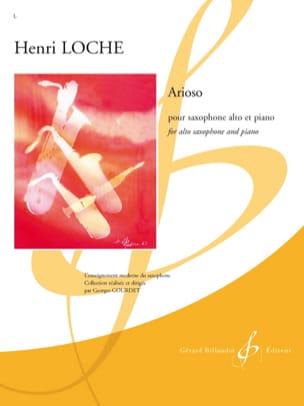 Arioso Henri Loche Partition Saxophone - laflutedepan
