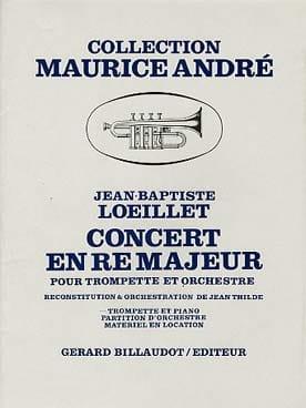 Concert En Ré Majeur LOEILLET Partition Trompette - laflutedepan