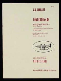 Jean-Baptiste Loeillet - Concerto En Ré - Partition - di-arezzo.fr