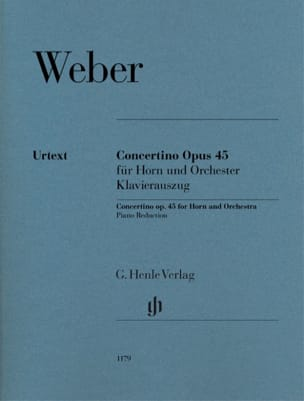Carl Maria von Weber - Concertino Opus 45 para trompa y orquesta - Urtext - Partitura - di-arezzo.es