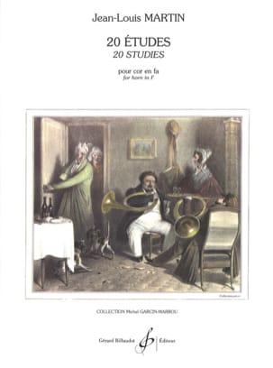 20 Etudes - Jean-Louis Martin - Partition - Cor - laflutedepan.com