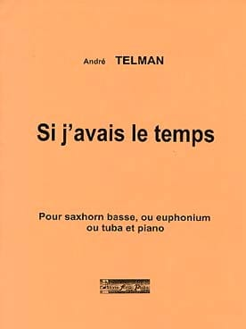 Si J'avais le Temps André Telman Partition Tuba - laflutedepan