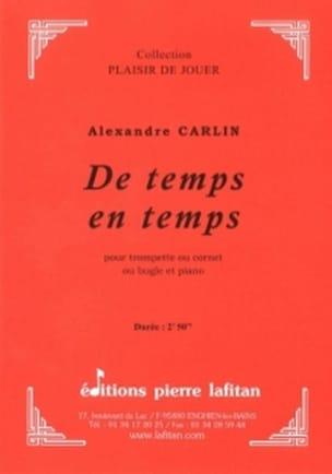 Alexandre Carlin - De temps en temps - Partition - di-arezzo.fr