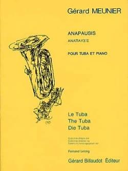 Gérard Meunier - anapausis - Sheet Music - di-arezzo.com