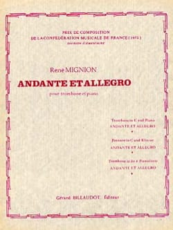 René Mignion - Andante and Allegro - Sheet Music - di-arezzo.com